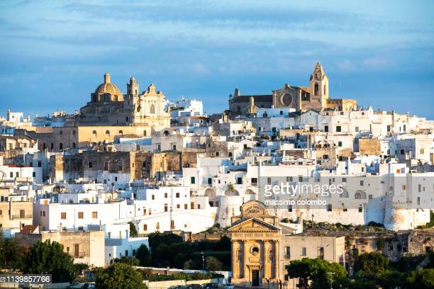 View of the city of Ostuni, early morning light