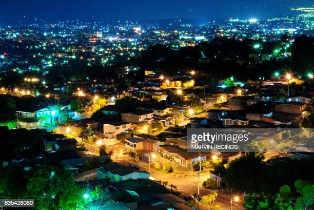 View of the city of San Salvador taken during dawn on February 15 2017 / AFP / Marvin RECINOS