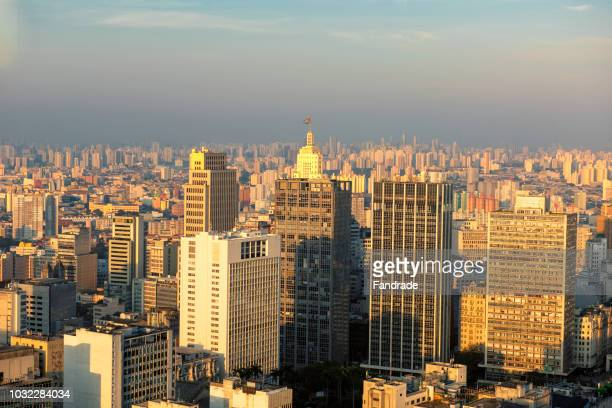 view of the city of são paulo - são paulo city stock pictures, royalty-free photos & images