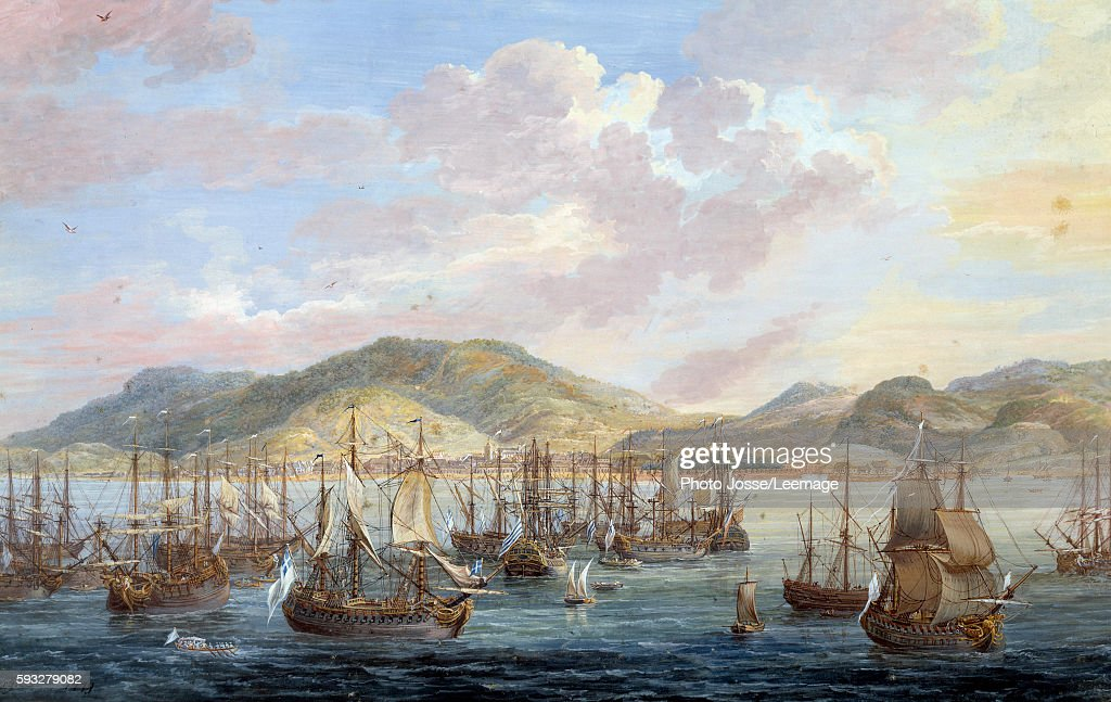 View of the city of The Cap francais by Louis Nicolas Van ...