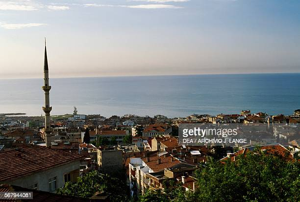 View of the city of Trabzon with the Black Sea in the background Turkey