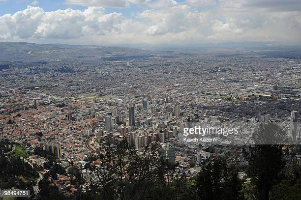 A view of the city seen from Monserrate Hill Bogota is located on the west of the Savannah of Bogota 2640 meters above sea level Although it is...