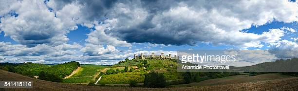 View of the city walls, Monteriggioni, Italy