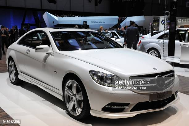 A view of the CL500 4 MATIC shown on the Mercedes stand at the Geneva Motor Show on March 6 2012 in Geneva in Switzerland