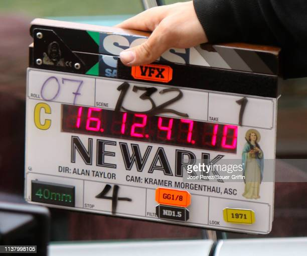 View of the clapper on the set of The Many Saints of Newark on April 18 2019 in New York City