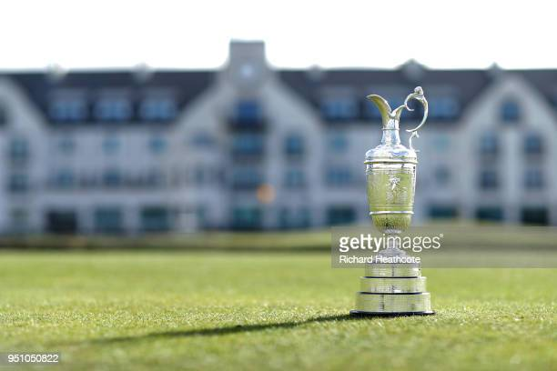 A view of The Claret Jug for The Open Championship media day at Carnoustie Golf Links on April 24 2018 in Carnoustie Scotland The 147th Open...