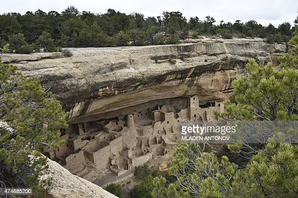 View of the Cliff Palace, one of the cliff dwellings built by the Ancestral Puebloans at Mesa Verde National Park, Colorado, taken on May 14, 2015....