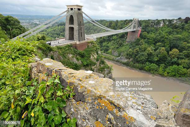 View of the Clifton Suspension Bridge in Bristol session for Digital Camera Magazine taken on July 18 2011