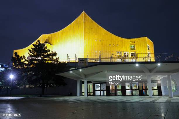 View of the closed Berlin Philharmonic Orchestra hall on the first day of a four-week semi-lockdown during the second wave of the coronavirus...