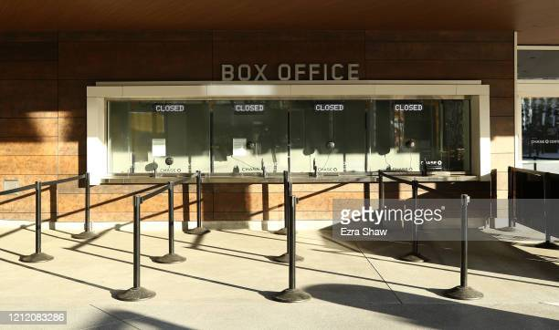 A view of the closed box office at the Chase Center where the NBA Golden State Warriors play on March 12 2020 in San Francisco California The...