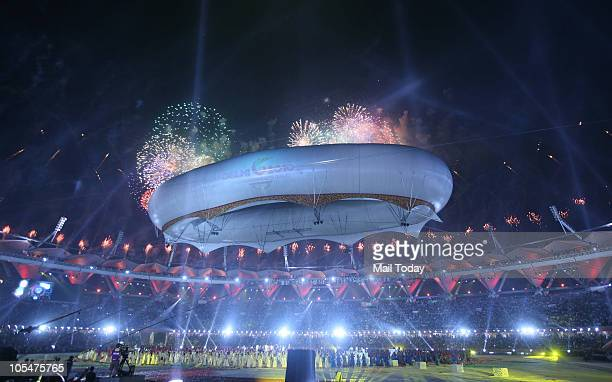 A view of the closing ceremony of the 19th Commonwealth Games at Jawaharlal Nehru Stadium in New Delhi on Thursday evening