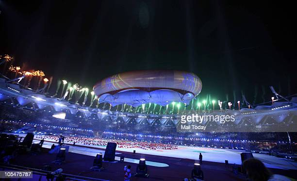 A view of the closing ceremony of the 19th Commonwealth games at Jawaharlal Nehru Stadium in New Delhi on October 14 2010