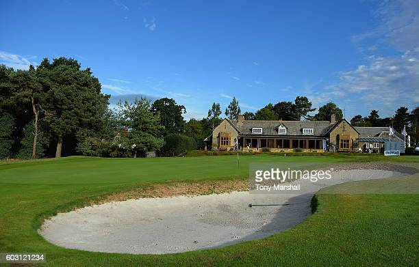 A view of the Club House and 18th green during the PGA ProCaptain Midland Qualifier at Northamptonshire County Golf Club on September 12 2016 in...
