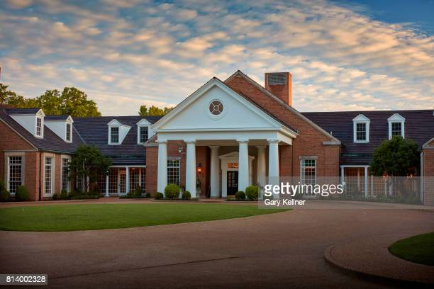 A view of the club house at Bellerive Country Club home of the 2018 PGA Championship on May 15 2017 in St Louis Missouri