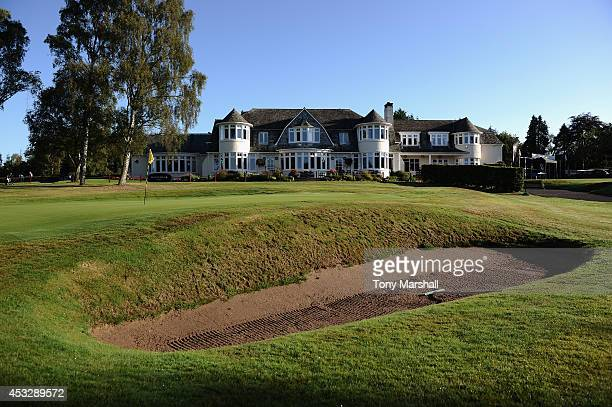 A view of the Club House during day three of the Glenmuir PGA Professional Championship at Blairgowrie Golf Club on August 7 2014 in Blairgowrie...