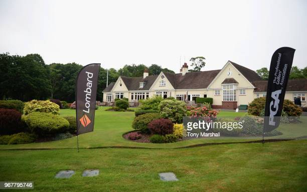 View of the Clubhouse at Little Aston Golf Club during The Lombard Trophy Midland Qualifier at Little Aston Golf Club on June 5, 2018 in Sutton...
