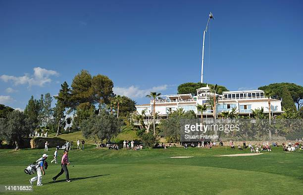 A view of the clubhouse by the 18th hole during the third round of the Open de Andalucia Costa del Sol at Aloha golf club on March 17 2012 in...