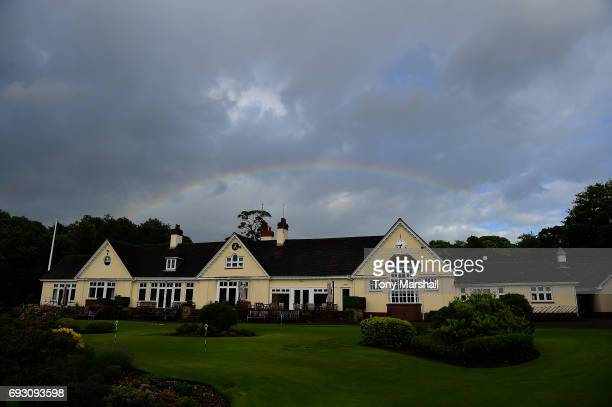 A view of the clubhouse during the Lombard Trophy Midland Qualifier at Little Aston Golf Club on June 6 2017 in Sutton Coldfield England