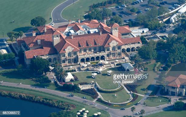 A view of the Clubhouse from THE PLAYERS blimp is seen during the first round of THE PLAYERS Championship on THE PLAYERS Stadium Course at TPC...
