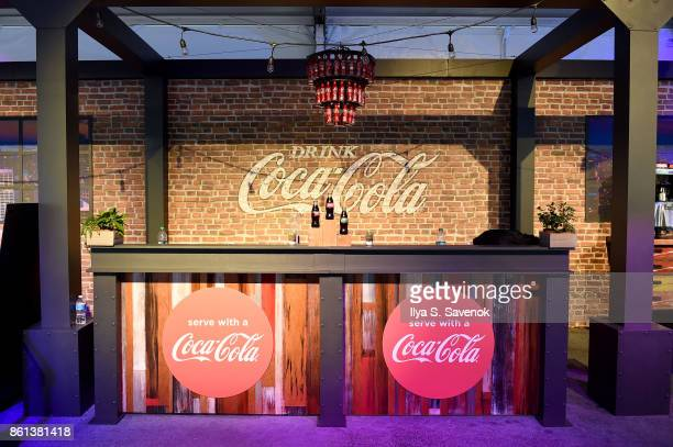 A view of the CocaCola booth during the Food Network Cooking Channel New York City Wine Food Festival presented by CocaCola Rooftop Iron Chef...