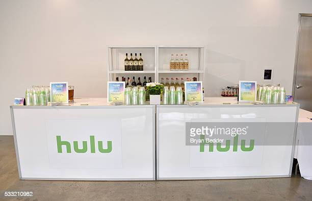 View of the cocktail bar in the Hulu Lounge at the Vulture Festival at Milk Studios on May 21 2016 in New York City