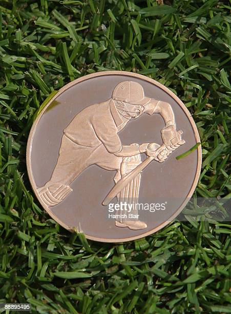 A view of the coin specially minted for the coin toss ahead of day one of the npower 1st Ashes Test Match between England and Australia at the SWALEC...