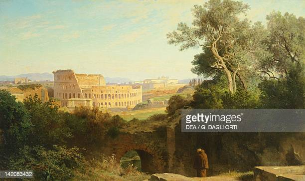 View of the Colosseum from Palatine Hill by JeanAchille Benouville Italy 19th century
