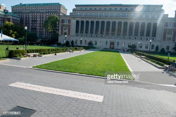 View of the Columbia University campus as the city continues Phase 4 of re-opening following restrictions imposed to slow the spread of coronavirus...