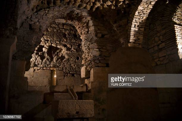 View of the complex of Diocleciano Palace located inside the fortress dating from the 4th century in Split Croatia in September 3 2018