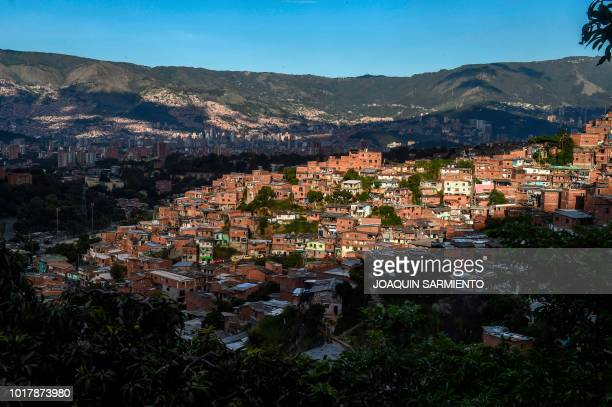 View of the Comuna 13 neighborhood in Medellin Antioquia Department Colombia on August 2 2018 Being a social leader is perhaps the most dangerous...
