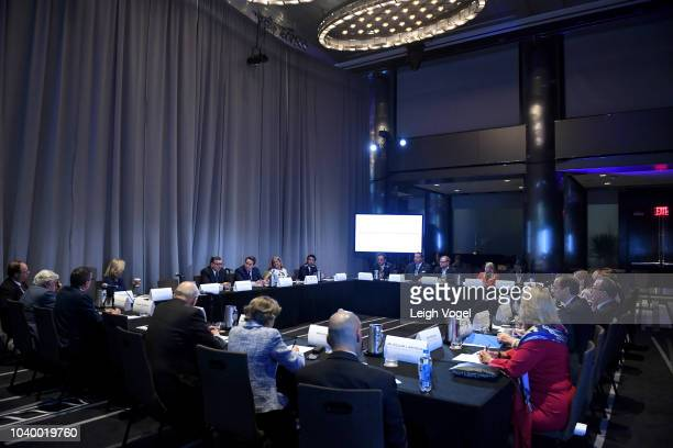 A view of the Concordia Leadership Council Breifing during the 2018 Concordia Annual Summit Day 2 at Grand Hyatt New York on September 25 2018 in New...