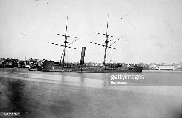 View of the Confederate ironclad the CSS Stonewall 1864