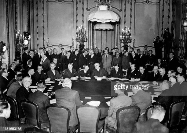 View of the conference of the Big Five or Conference of the Allied Control Council for Germany at Lancaster House in London on September 10 1945...