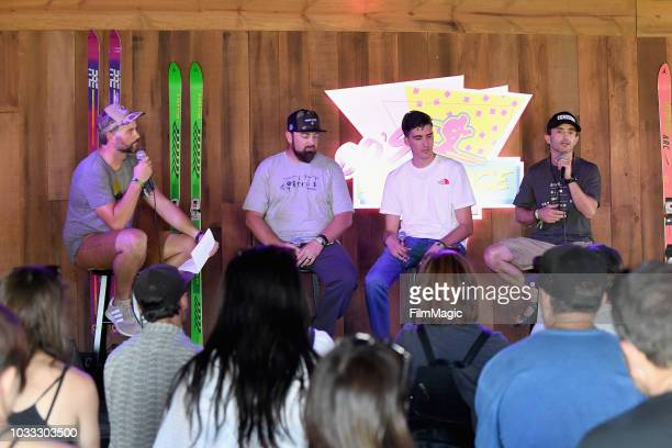 A view of the Conservation Conversations panel in the 80s Ski Lodge during day 1 of Grandoozy on September 14 2018 in Denver Colorado