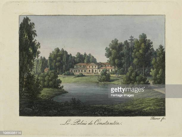 View of the Constantine Palace in Pavlovsk , 1810s. Private Collection. Artist Thurner .