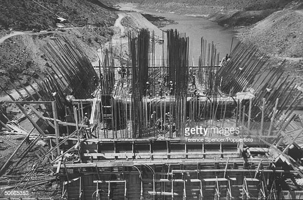 View of the constrution of the Kariba Dam.