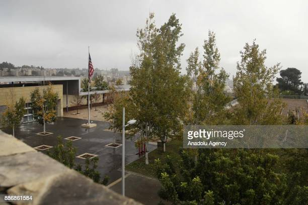 A view of the Consulate General of the United States in Jerusalem is seen on December 06 2017 in Jerusalem Sacred to Muslims Jews and Christians...