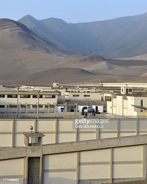 View of the containment areas of the Ancon 2 prison part of the Piedras Gordas Model Penitentiary complex some 12 kilometers north of Lima on August...
