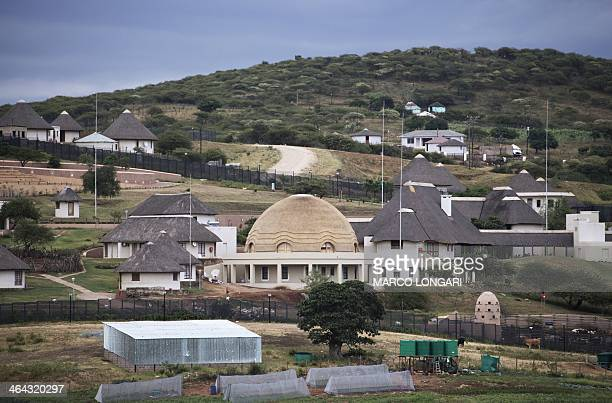 A view of the controversial homestead of South African President Jacob Zuma in Nkandla on January 21 2014 On January 11 South African police arrested...