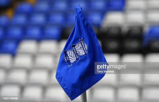 A view of the corner flag at St Andrew's Trillion Trophy Stadium on January 12 2019 in Birmingham England