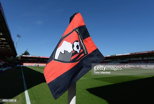 A view of the corner flag at the Vitality Stadium during the Barclays Premier League match between AFC Bournemouth and Sunderland at the Vitality...