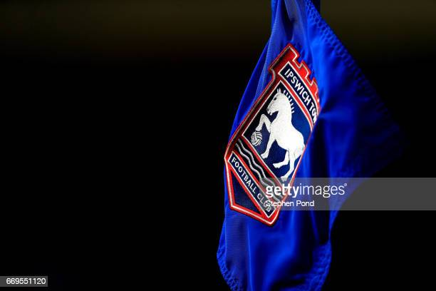 A view of the corner flag during the Sky Bet Championship match between Ipswich Town and Newcastle United at Portman Road on April 17 2017 in Ipswich...