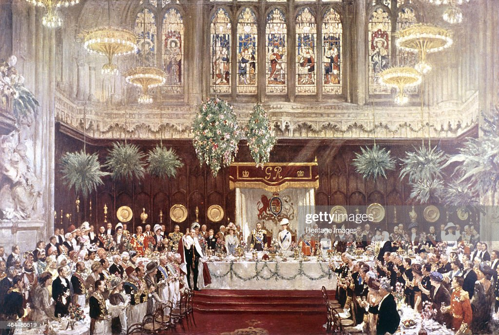 View of the Coronation luncheon for King George V and Queen Mary consort, London, 1911. Artist: Anon : News Photo