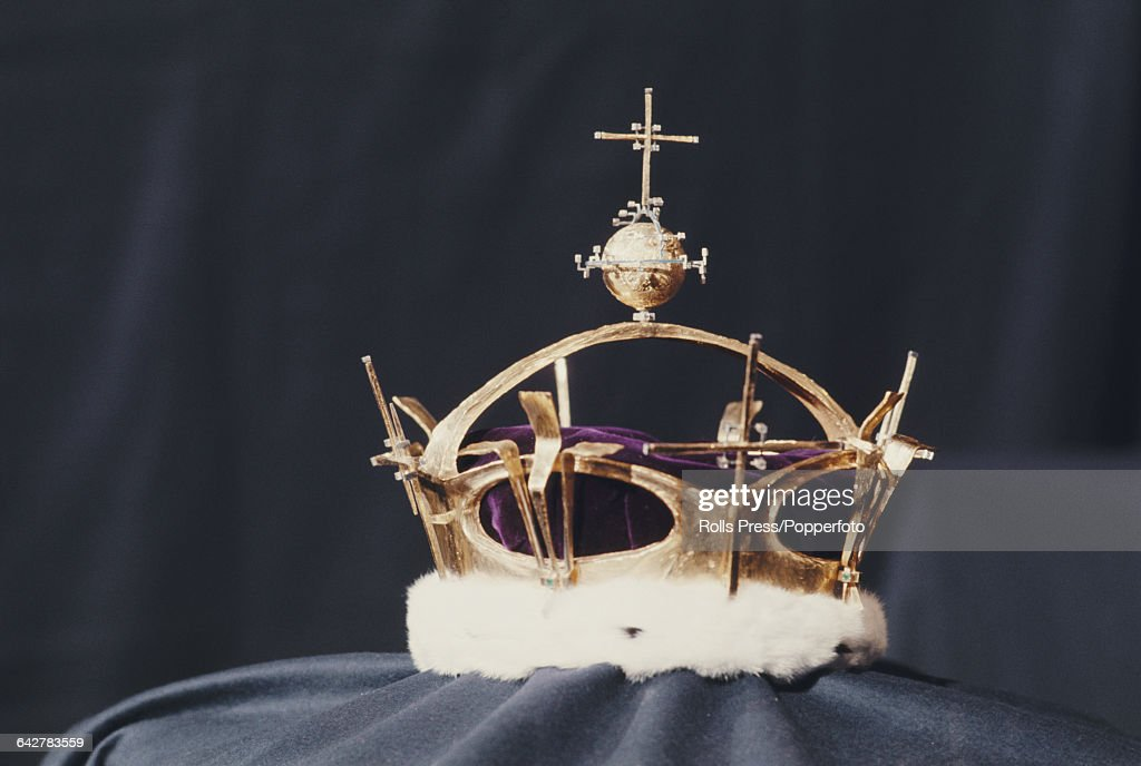 View of the Coronet of Charles, Prince of Wales, designed by Louis ...