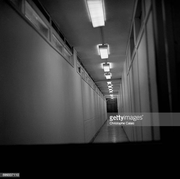 View of the corridors at the International Criminal Tribunal