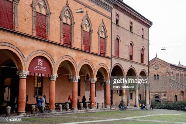 """view of the corte isolani in the city of bologna, italy. - """"martine doucet"""" or martinedoucet stock pictures, royalty-free photos & images"""