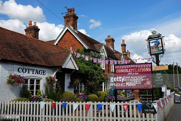 A view of the Cottage Inn Pub in Bucklebury on July 26 2013 in BuckleburyEngland Bucklebury is the home of the Middleton family and where Catherine...