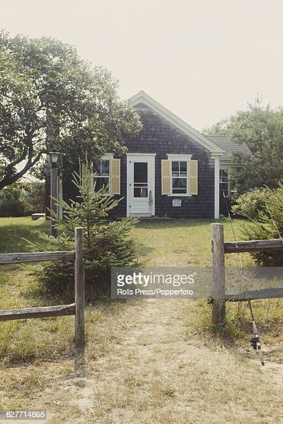 View of the cottage on Chappaquiddick Island United States location of the party that Senator Ted Kennedy hosted before his car accidentally drove...