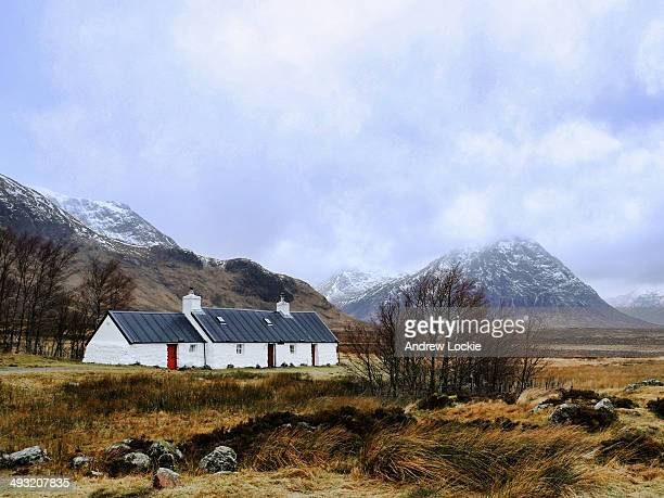 View of the countryside at Glen Coe, with the pyramid shaped mountain known as Buachaille Etive Mor in the background. Taken in the Scottish...