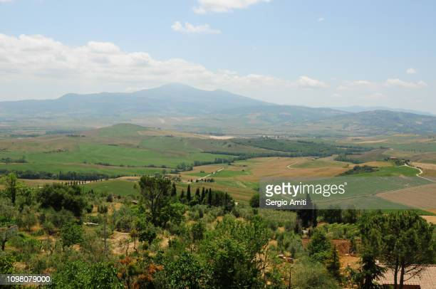 View of the countryside in Val d'orcia